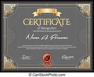 vindima, certificado, reconhecimento