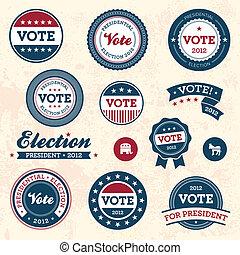 vindima, eleição, emblemas