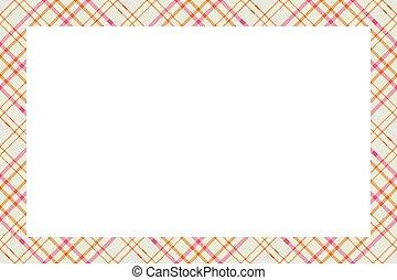 vindima, escocês, retro, padrão, style., ornament., borda, tartan, quadro, vector., xadrez