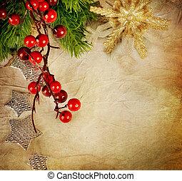 vindima, estilo, card., saudação, natal
