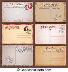 vindima, postais, vetorial