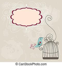 vindima, quadro, wih, birdcage