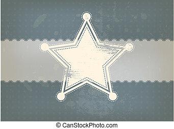vindima, símbolo, estrela, fundo
