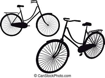 vindima, vetorial, bicicleta