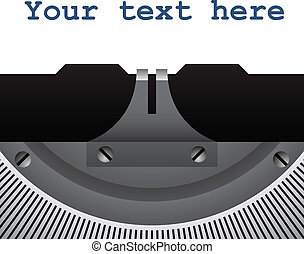 vindima, vetorial, detalhe, máquina escrever