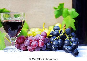 vinho vidro, uvas vermelhas, tabela