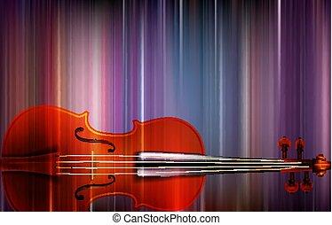 violino, abstratos, música, fundo, borrão