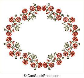 vitoriano, quadro, rosas vermelhas
