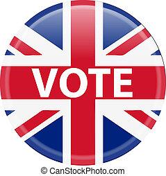 voto, botão, reino unido