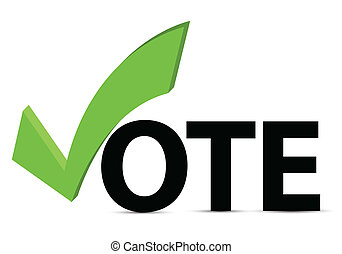 voto, confira mark, texto