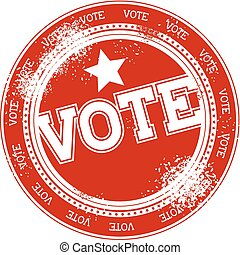 voto, selo, vetorial, grunge