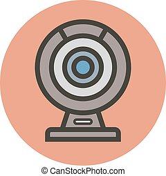 webcam., estilo, apartamento, vetorial