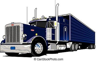 wheeler-semi, 18, caminhão