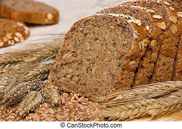 whole-grain, cereais, pão