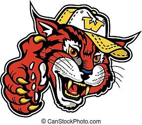 wildcat, basebol, mascote