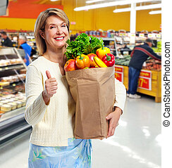 woman., shopping
