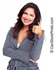 woman., success., negócio, feliz
