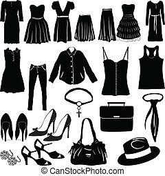 womens, roupa, variado
