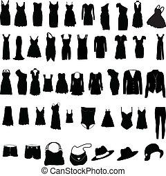 womens, roupa, variado, silho