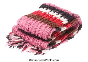 woolen, isolado, echarpe, nepalese
