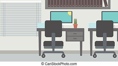 workplace., fundo, escritório