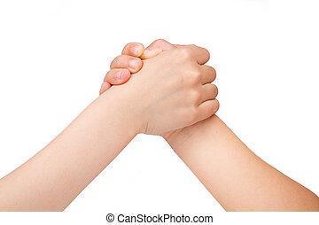 wrestling, braço