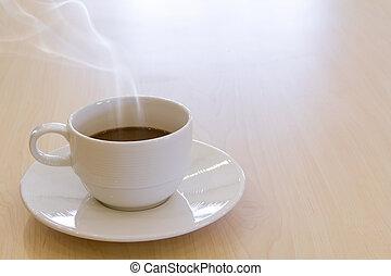 xícara café, bebida, quentes