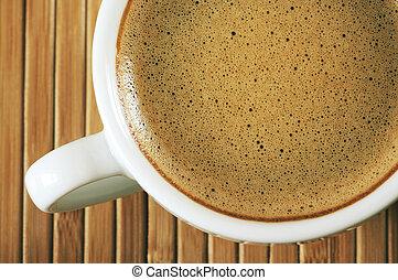 xícara café, close-up