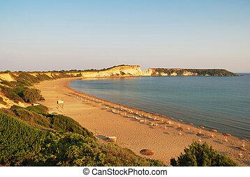 zakynthos, ilha, praia, arenoso