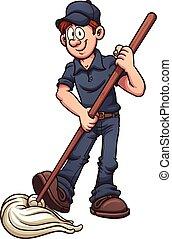zelador, caricatura